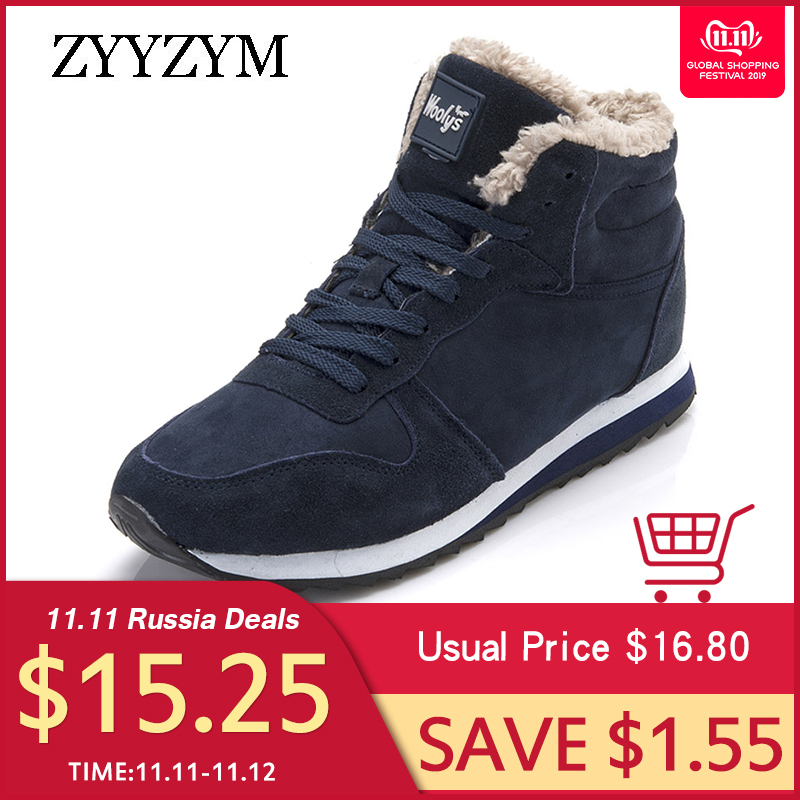 ZYYZYM Women Boots Winter Snow Boots Plush Keep Warm 2019 Light Fashion Sneakers Boots Unisex Shoes Woman Mujer Botas Large size 50