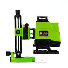 Niveau Laser allemand 4D vert 16 lignes avec batterie de 5000MAH, auto nivellement, projection à 360 ° horizontale et verticale, 2 pièces, Super puissant, 520NM