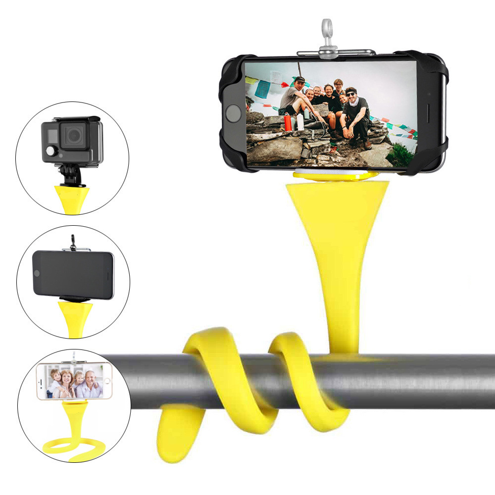 flexible selfie stick monopod tripod monkey holder for GoPro iPhone camera phone car bicycle universal image