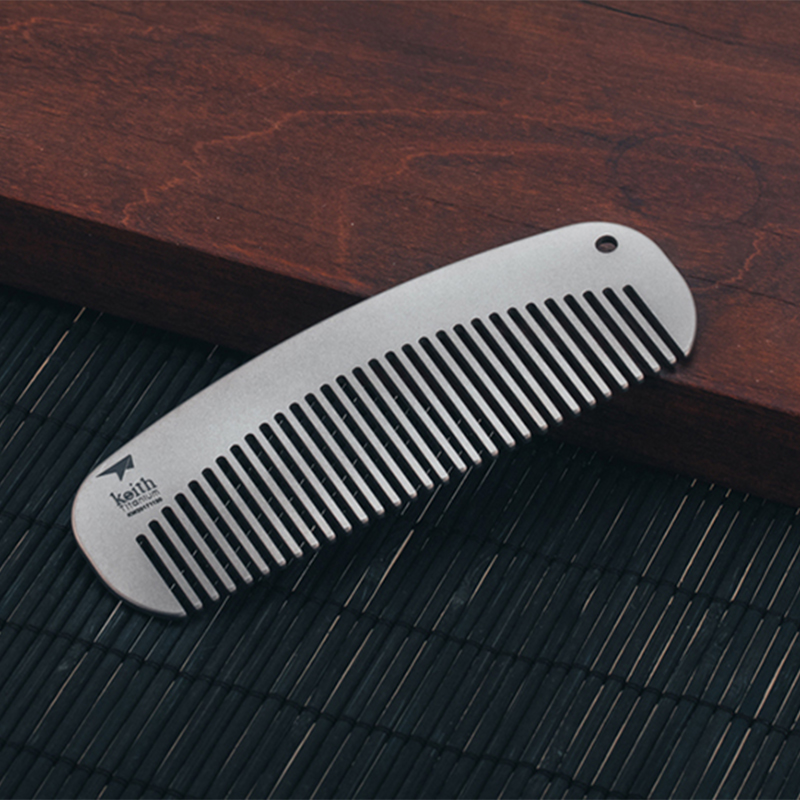 Healthy Titanium Comb Close Teeth Anti static Detangling Beard comb Head Massage Hairbrush Hair Care Tools For Camping Travel|Outdoor Tools| |  - title=