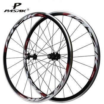цена на Pasak Road Bike Wheel 700C Wheelset 20h 24h Sealed Bearing Hub Ultralight Aluminium Alloy Double-deck Rim Clincher Bicycle Wheel
