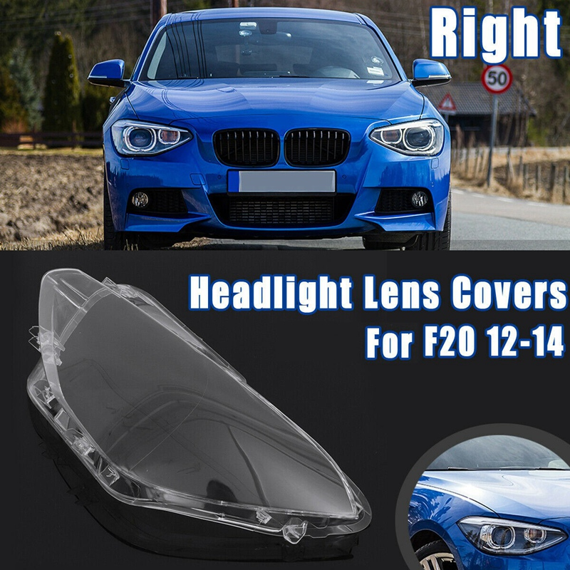 Headlight Head Light Lamp Headlight Lens Cover For BMW X1 F20 116I 118I 120I 2012-2014 Replacement Covers Case Shell