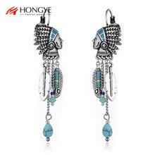 Ethnic Drop Earrings For Women Vintage Indian Jewelry Tassel Feather Long Earrings Fashion Jewelry Bisuteria brincos 2020