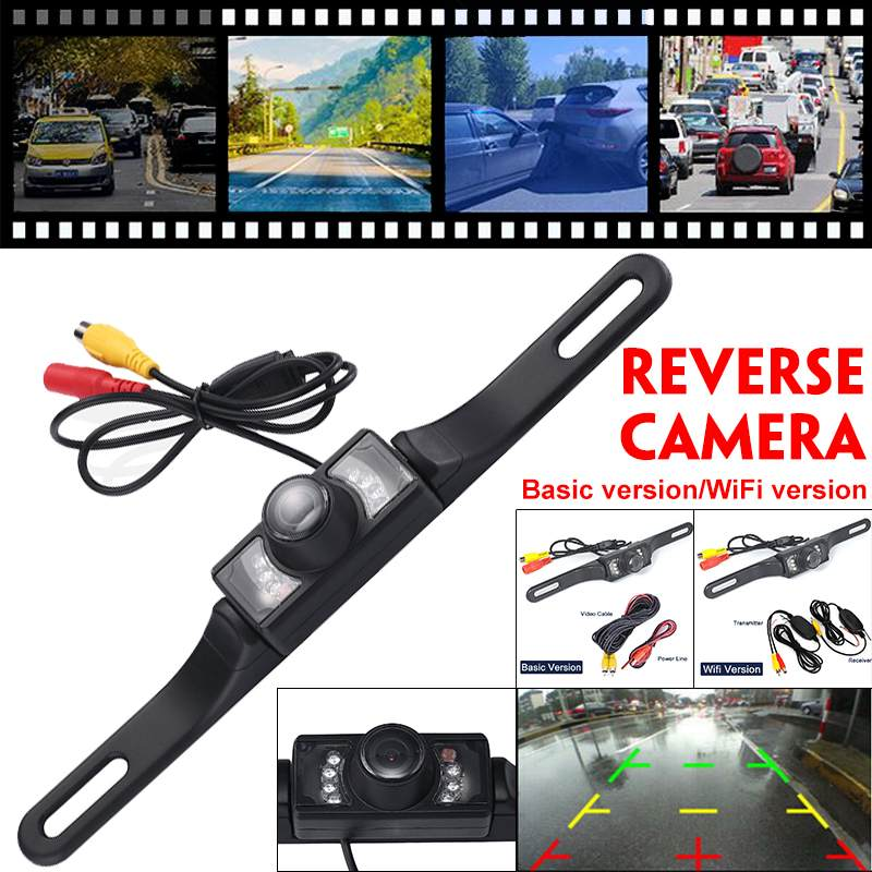 Wifi CMOS Car Rear View Reverse Backup Camera Parking Night Vision Waterproof 7 LED Night Vision IP67 Waterproof HD Color Image
