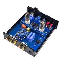 TOP 6J1 Vakuum Tube Preamp Verstärker Bord Ton Preamp Bluetooth5.0 Audio Verstärker-in Lupen aus Werkzeug bei