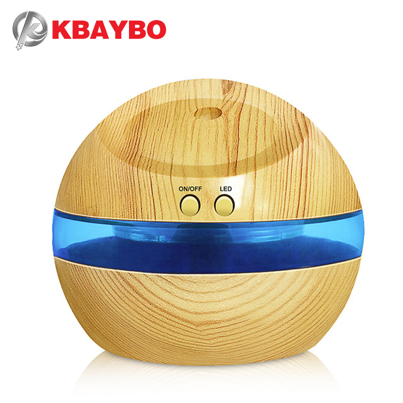 290ml USB Ultrasonic Humidifier Aroma Diffuser Essential Oil Diffuser Aromatherapy Mist Maker With Blue LED Light