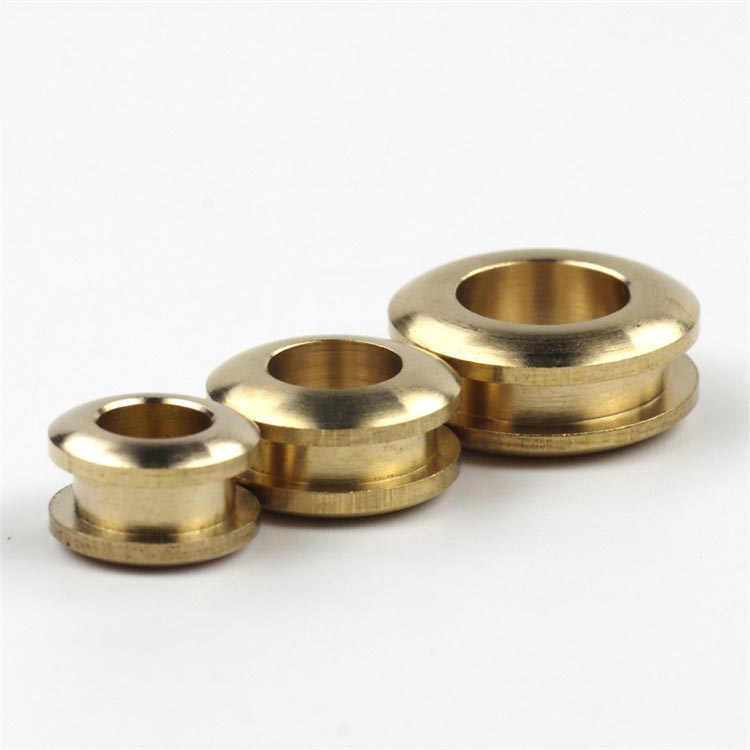 4pcs Deepeel Pure Copper O Ring Eyelet Buckle Metal Fittings Hollow Corn Turn Buckle DIY Handmade Leather Bags Shoes Accessories