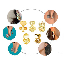 20PCS Copper Royal Crown Cross Flowers Shape Earring Back Stopper Earrings Cap For Women Jewelry Making Ear Backing Accessories