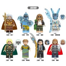 Super Heroes Odin Laufey Thor Loki Frigga Figures Toys Legoings X0269(China)