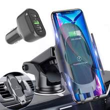 10W Wireless Car Charger QC 3.0 Qi Fast Car Charging Dashboard Air Vent Phone Holder for Samsung S10 S9 Note 9 iPhone8 Max X XR(China)