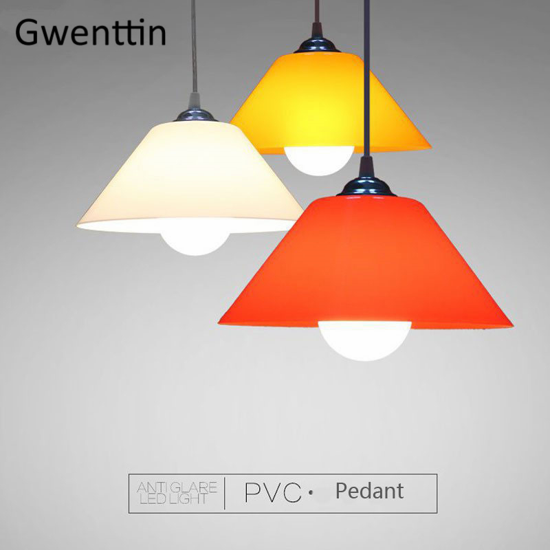 Modern PVC Pendant Lights Nordic Led Plastic Hanging Lamp Shade For Kitchen Dinning Room Home Decor Lighting Fixtures Luminaire