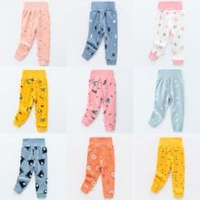 Baby Trousers Underwear Boys Pants Kids Toddler Girl Autumn High-Waist Cotton Cartoon