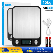 Weighing Balance Food-Scale Cooking-Tools Digital Stainless-Steel 1g Lcd-Display Multi-Function