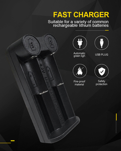 Image 3 - PHOMAX 2 Slot 18650 LM201 LED Smart Display Fast Charger IMR/Li Ion Rechargeable Battery 17650 18490 18700 21700 3.7v charger