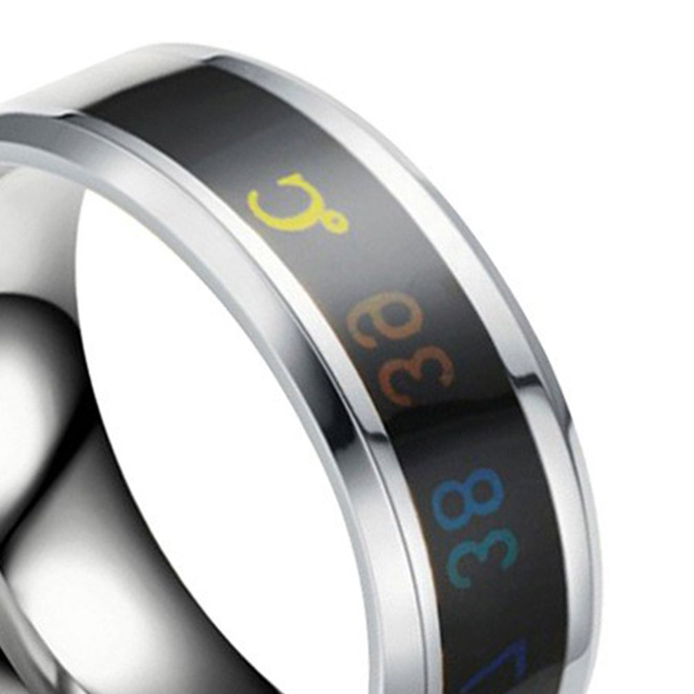 Ring for Lovers Smart Temperature Ring Mood Temperature ...