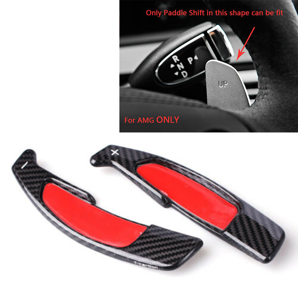 Karbon Fiber araba direksiyon vites Paddle uzatma için mercedes-benz C E ı ı ı ı ı ı ı ı ı ı ı ı ı ı ı ı ı ı ı ı CLA CLS GLA sınıf SL63 G63 A45 AMG