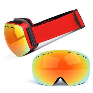 Image 3 - Ski Goggles Double Layers UV Anti fog Big Ski Mask Glasses Skiing Snow Snowboard Goggles Men Women Ski Eyewear