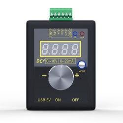 SG-002 Handheld Small Voltage Current Generator DC 0-10V 0-22mA Current Voltage Signal Producer DC5V micro USB Generator
