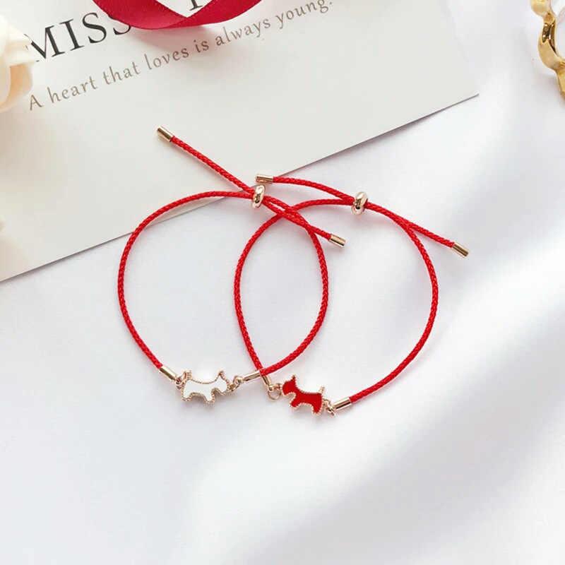 2019 Luxury Brand Red Rope Korea Sleep From Swarovskis Duplex Pup Brace Women Fashion Jewelry Simple Hand Rope