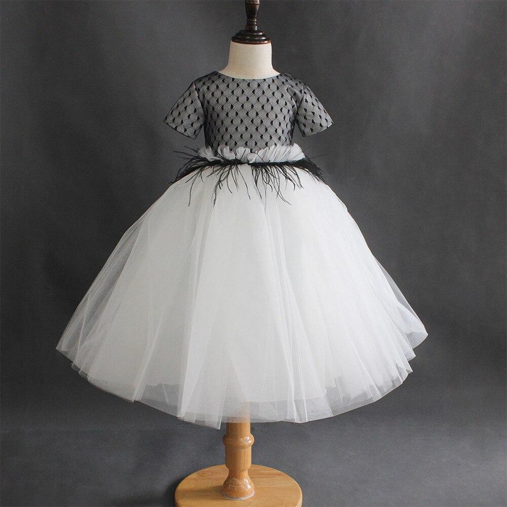 Свадебное платье пышное кружевное платье средней длины для девочек, Пышное Платье для принцессы, платья для девочек, бальное платье, платья ...