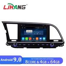 LJHANG ips Android 9,0 автомобильный dvd-плеер для hyundai Elantra wifi gps навигация 2 Din автомагнитола стерео 4G+ 64G аудио