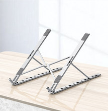 Foldable Laptop Stand Aluminium Adjustable Desktop Tablet Pemegang Meja Ponsel Berdiri untuk iPad Macbook Pro Air Notebook(China)