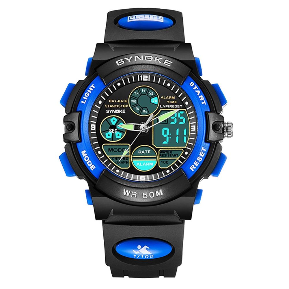 Waterproof Digital Analog Electronic Movement Watch Dual Time Date Alarm Luminous Kid Boy Girl Wrist Watch New For Boys Girls Me