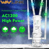 Wavlink AC1200 Ad Alta Potenza Wi-Fi Outdoor AP/Repeater/Router con PoE e Ad Alto Guadagno 2.4G & 5G Antenne wifi range extender amplificatore