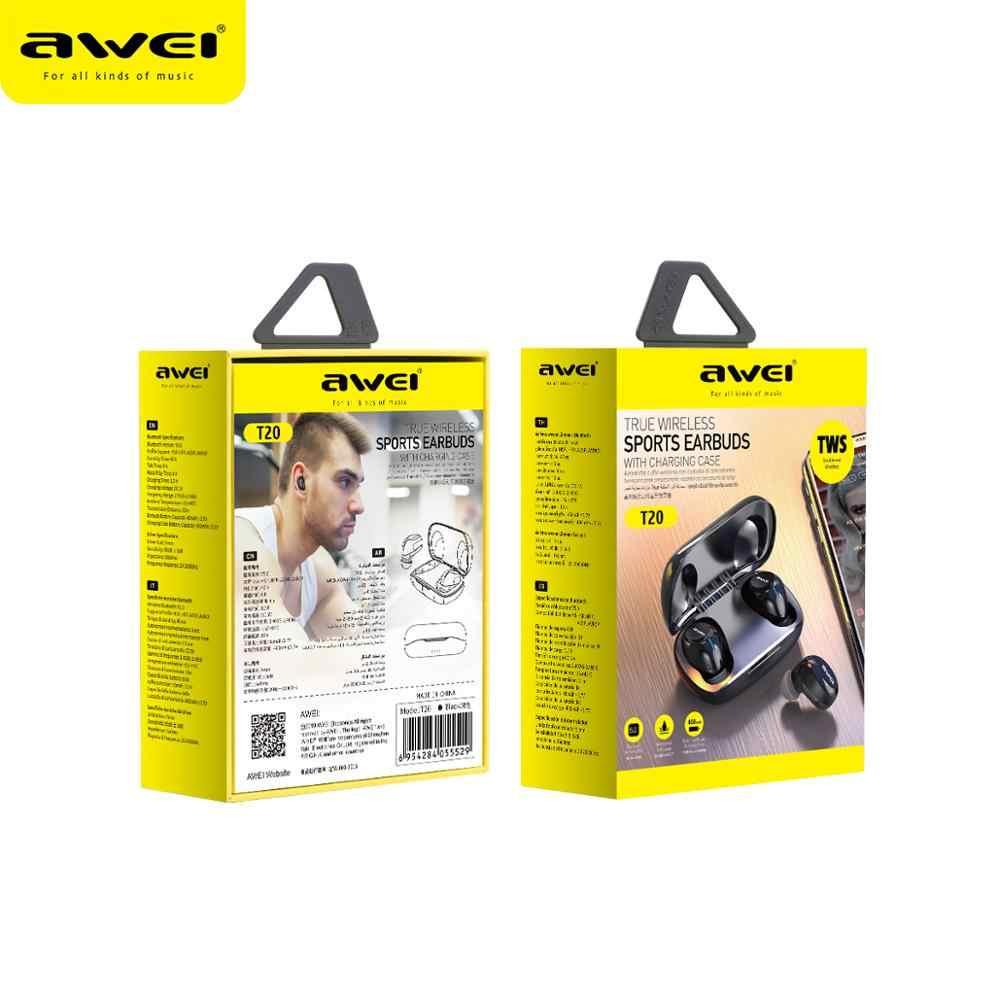 Awei 予算で tws 耳ミニイヤフォン bluetooth 5.0 音質ハイファイイヤホンとマイクタッチ contorl ワイヤレスヘッドセット