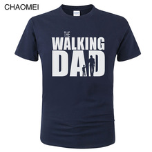 2019 The Walking Dad T Shirts Men Tops Casual Cotton Father's Day T Shirts Short Sleeve Men Funny Dad Gift T-shirt  C87