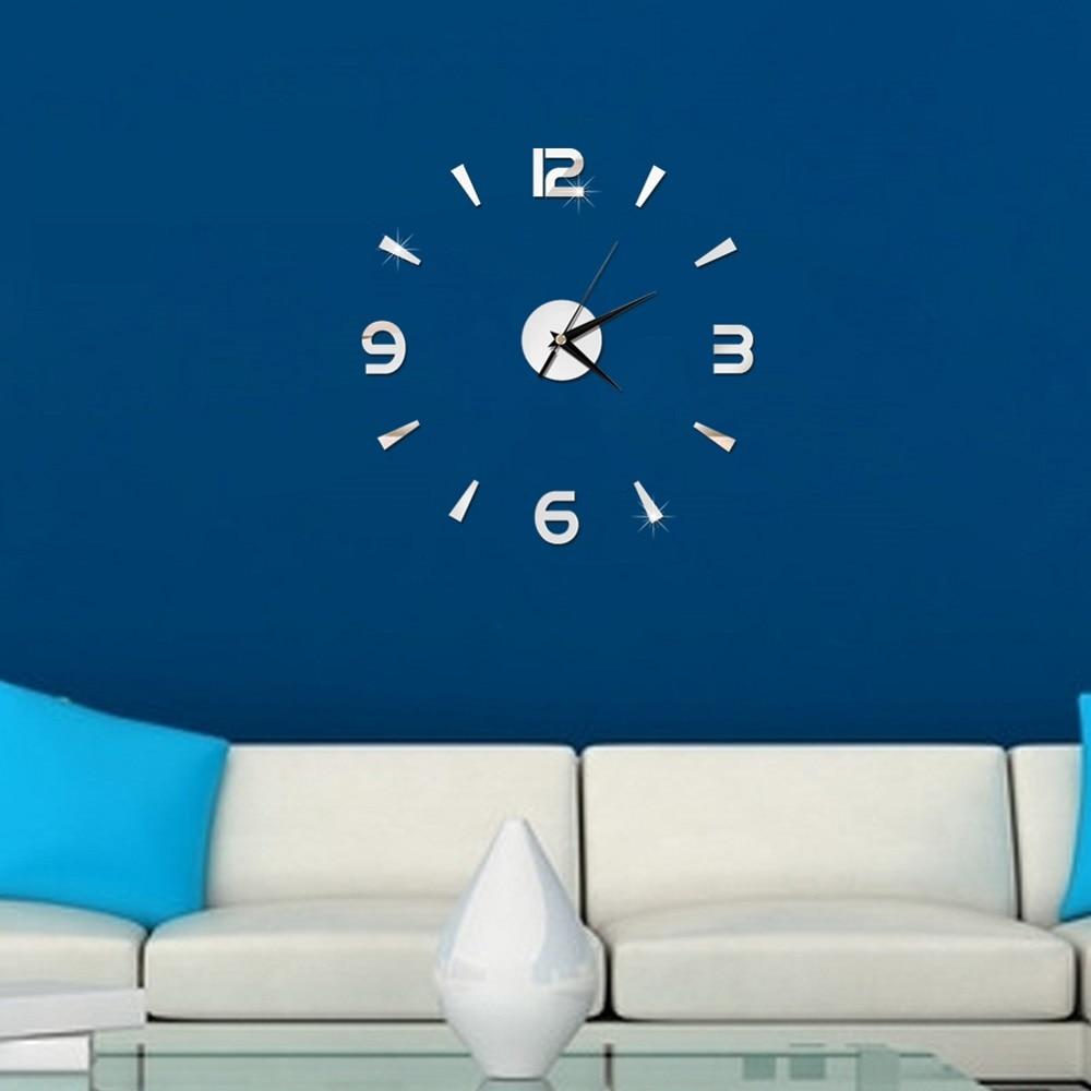 2019 New 3D Wall Clock Mirror Wall Stickers Fashion Living Room Quartz Watch DIY Home Decoration Clocks Sticker reloj de pared 4