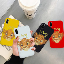 JAMULAR การ์ตูน Lion King Fitted Case สำหรับ iPhone 7 XS MAX XR X 11 Pro 8 6 6 S PLUS BEST Friends Soft ซิลิโคน Coque(China)