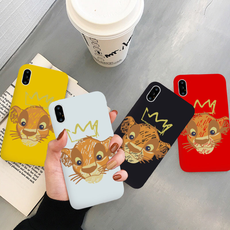 JAMULAR Cartoon <font><b>Lion</b></font> <font><b>King</b></font> Fitted <font><b>Case</b></font> For <font><b>iPhone</b></font> 7 XS MAX XR X 11 Pro 8 <font><b>6</b></font> 6s Plus Best Friends Soft Phone Cover Silicone Coque image