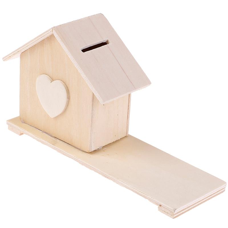 Hucha casa niños bebé hecho a mano DIY Moneda de madera Natural regalo juguetes ahorrar dinero barro Chalet manualidades 1: 70 Kits de modelo de barco de madera ensamblado clásico de modelado de velero de madera de juguete de acorazado ofrecen instrucciones en inglés