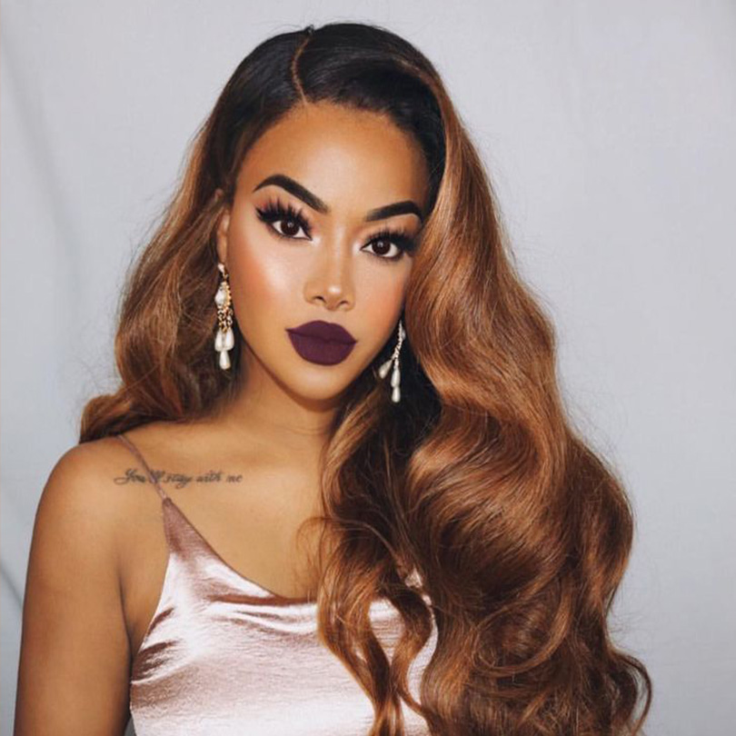 Blonde Colored 360 Deep Part Lace Frontal Human Hair Wigs Body Wave Peruvian Remy Invisible Lace Frontal Glueless Wig