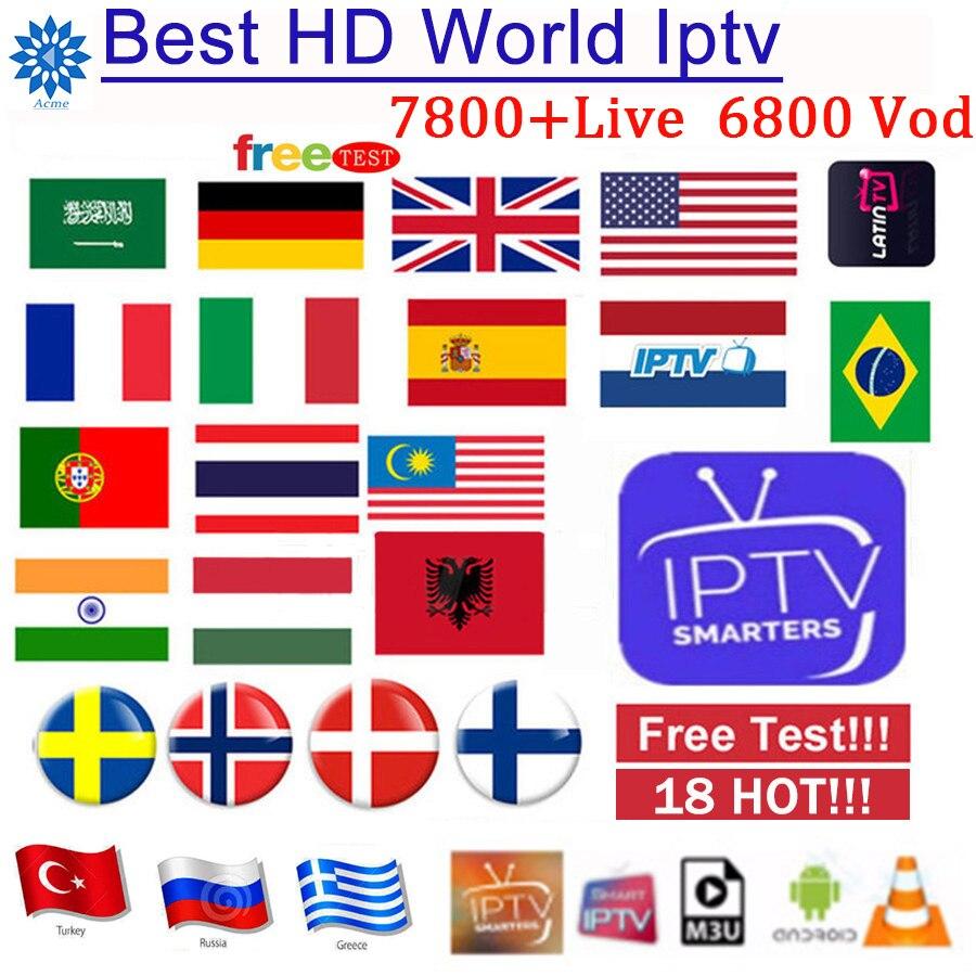 Monde IPTV abonnement arabe europe français italien polonais albanie royaume-uni espagnol sport iptv code M3U mag test gratuit 1/3/6/12/14M