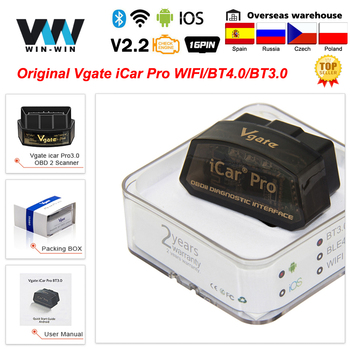 Vgate iCar Pro Bluetooth 4.0 ELM327 WIFI OBD2 Scanner Scan For Android/IOS OBD 2 OBD2 Car Diagnostic Auto Tools PK ELM 327 V 1 5 1