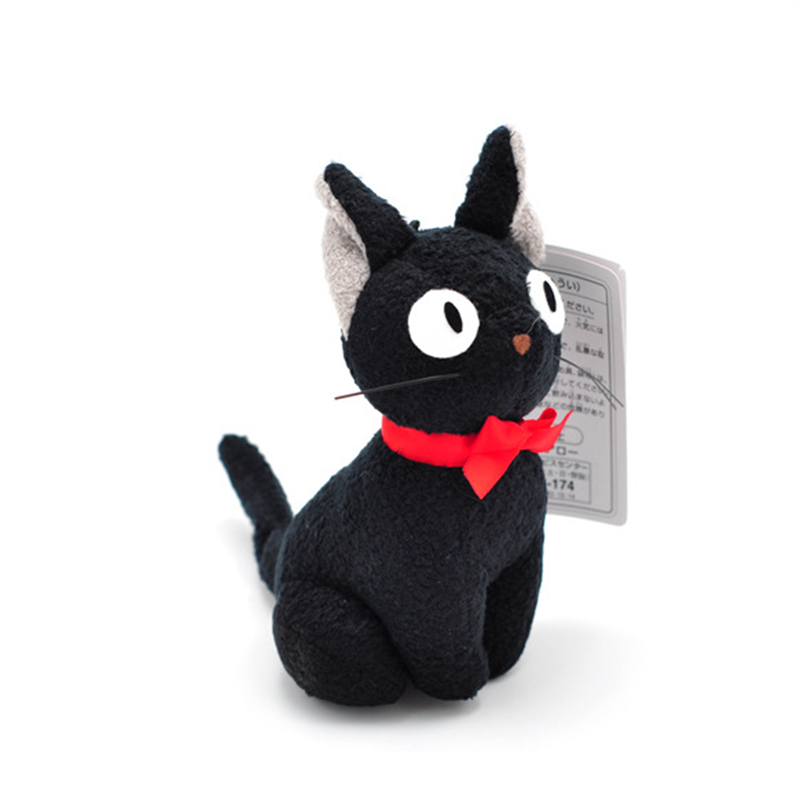 Studio Ghibli Hayao Miyazaki Kiki's Delivery Service Black JiJi Plush Toy Cute Mini Black Cat Kiki Stuffed Toy Keychain Pendant