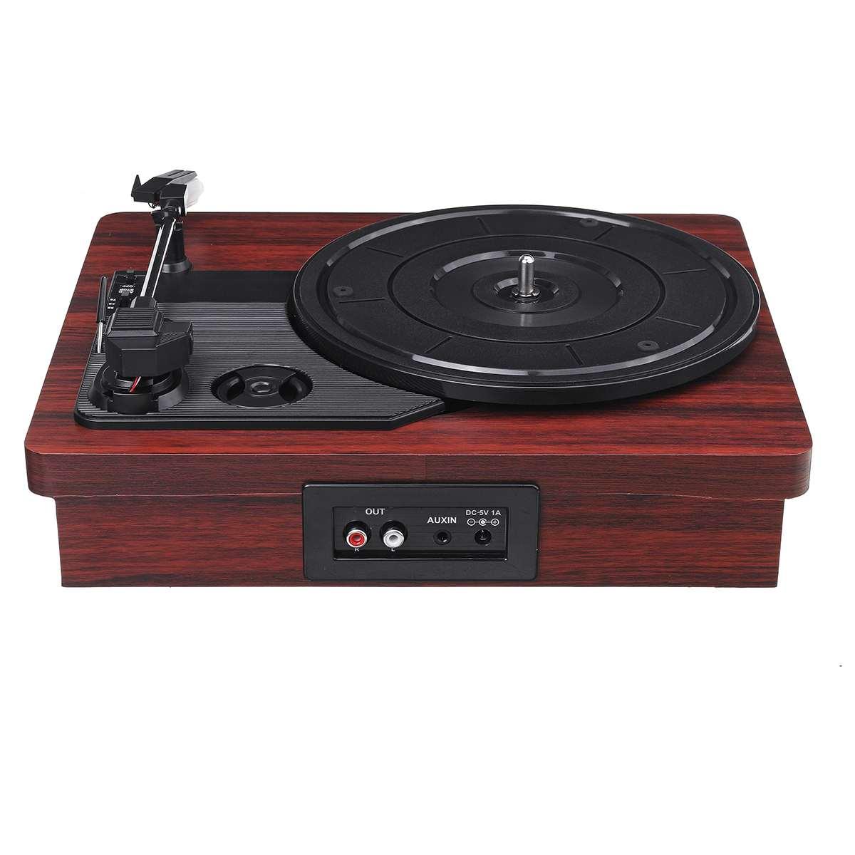 33, 45, 78 tr/min lecteur de disque LP bluetooth haut-parleurs intégrés Antique Gramophone platine vinyle Audio RCA - 4