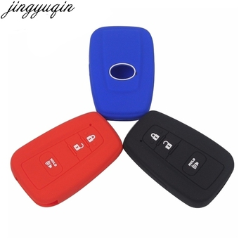 jingyuqin 3 Buttons Silicone Remote Car Keychain Key Cover Case For Toyota Camry CHR Prius Corolla RAV4 Prado 2017 2018 image
