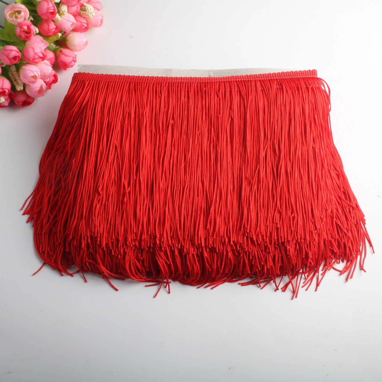 10 jardów paczki 15cm szerokość wykończenie z frędzlami koronki polierter Fibre Tassel odzież akcesoria łacińska suknia ślubna Tassel wstążka Diy