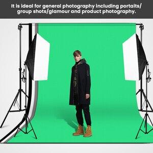 Image 5 - Zuochen Fotostudio Achtergrond Ondersteuning Stand Kit Zwart Wit Groen Achtergrondscherm Set
