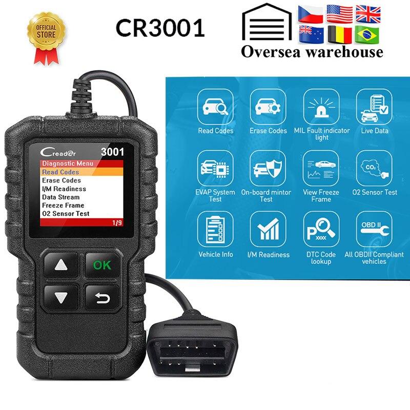 CR3001 Full OBD2 Scanner OBD 2 Engine Code Reader Creader 3001 Car Diagnostic tool PK AD310 ELM327 Scan tool For Bmw For Benz