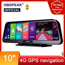 Зеркало-видеорегистратор, 10 дюймов, Android 8,1, 2 Гб + 32 ГБ, ADAS, видеорегистратор 10 в 1, 4G, Wi-Fi, GPS, Bluetooth, Full HD 1080P