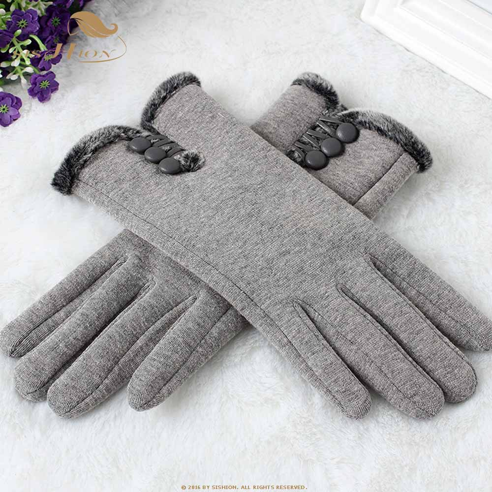 SISHION Fashion Women Touch Screen Winter gloves Outdoor Sport Warm Gloves female Winter Mobile Phone Warm Gloves SP0541