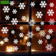 DIY Christmas Sticker Snowflake Party Decoration Santa Window Cartoon Background Decorative Glass
