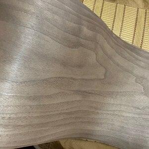 Image 4 - Custom Natural Genuine Black Walnut Wood Veneer for Furniture Stereo 0.2mm to 0.5mm C/C