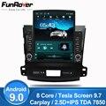 4000589646767 - Funrover 9,7 Tesla pantalla Android 9,0 coche multimedia Player radio gps navi para Mitsubishi Outlander xl 2 2005-2011 rds BT nodvd