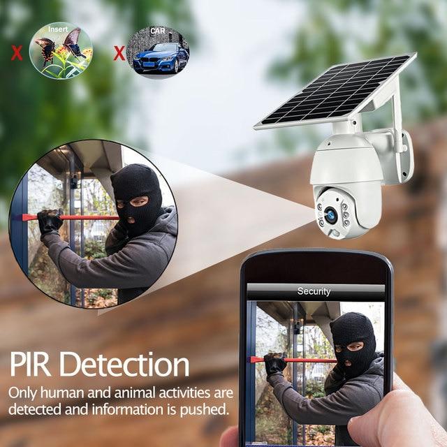 HISMAHO 4G SIM Card 1080P IP Camera WIFI 8W Solar Panel Battery Security Camera Outdoor PTZ CCTV Camera Smart Security Monitor 6