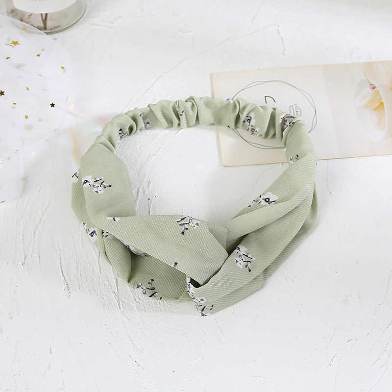 2020 Fashion hot Women Hair Accessories Turban Headbands Bandanas Elastic Flower Prints Hairband Hair Bands Gum Hair for Girls